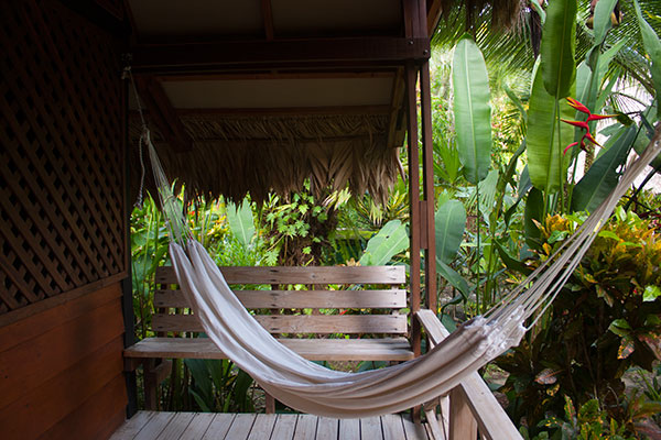 Hammock on patio