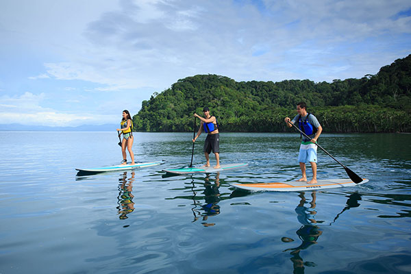 Stand Up Paddling on Rio Dulce
